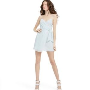 Alice & Olivia Katie Tie Mini Wrap Dress
